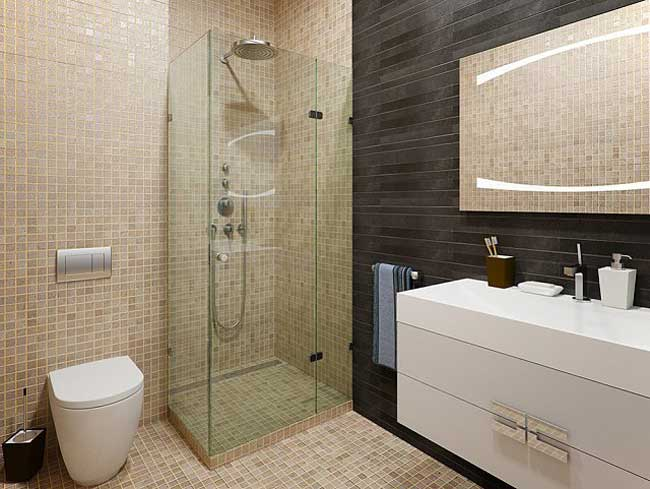 Design a bathroom with shower .Trendy 2014