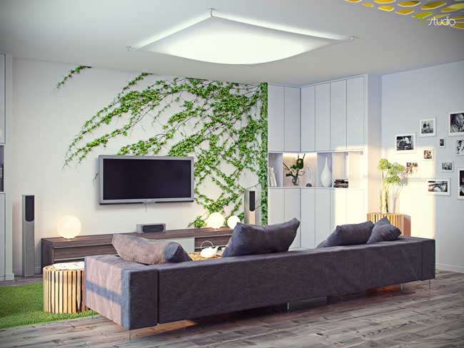 Ecostyle in the interior of the apartment