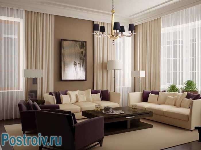 How to arrange the furniture in the room : the selection of the central element , the table