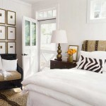 Making light bedrooms .Bed with white bedspread