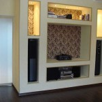 Built- in wall niche for TV