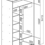 Photo 2. Plans narrow cabinet compartment