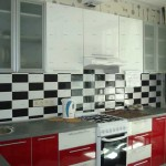 Photo Interior kitchen 6 sq.m.the gas column