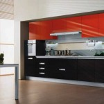 Photos red and black kitchen interior