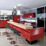 Kitchen red and black.Picture 5