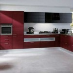 Kitchen Design red black.Picture 6