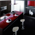 Kitchen black, red and white .Picture 7