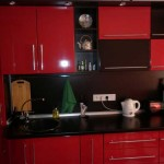 Economy version of the red and black kitchen .Photo 10