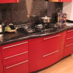 Kitchen in black and red.Photo 17