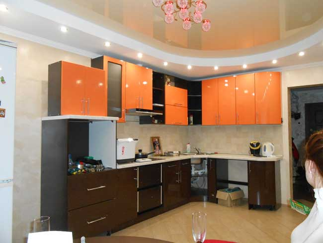 Kitchen Design orange with wenge .7 photos