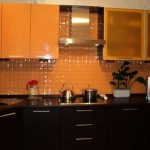 Kitchen wenge and orange.Picture 8