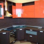 Kitchen wenge gloss orange .Photo 13