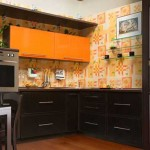 A beautiful combination of kitchen colors .Photo 15