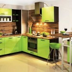 Kitchen with green wenge .photo 16