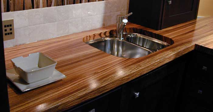 Kitchen countertop wenge colors .photo 24