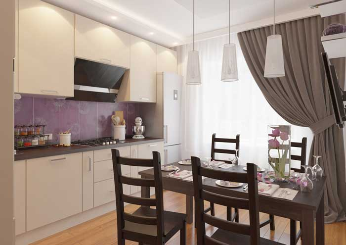 Kitchen Design 12 square meters.Photo 1