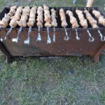Collapsible brazier for a shish kebab - Photo 46