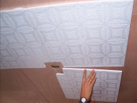 Making the ceiling in the bathroom ceiling tile
