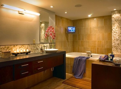 LED fixtures for the bathroom