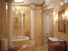 Multilevel lighting in the bathroom