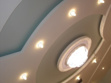 Beautiful ceiling with ceiling lights