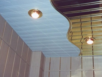 Closed rack pinion ceiling in the bathroom