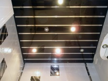 Lamps mounted in rack ceiling