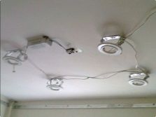 Wiring a stretch ceiling