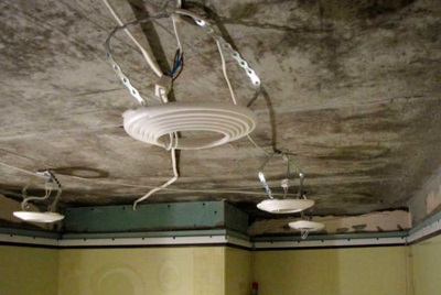 Mounting tension ceiling fixtures