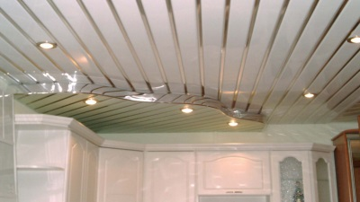 Plastic panels on the ceiling duplex