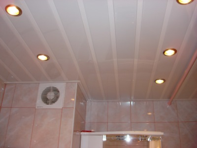 ceiling tiles in the bathroom