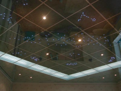 Mirrored ceiling lighting
