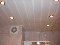 Stretch ceiling for the bathroom