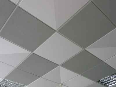 Tiled false ceilings