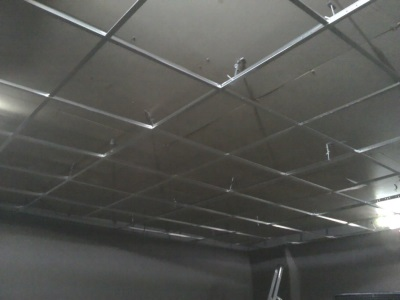 Installation of suspended ceiling in the bathroom