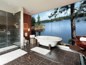 Washable wallpapers for bathroom
