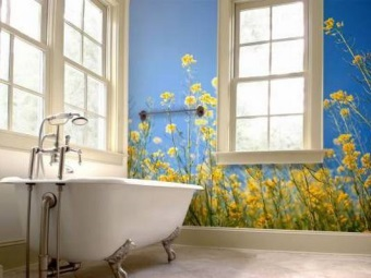 Tips for choosing a wallpaper for the bathroom