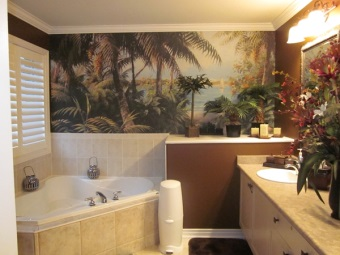Photo Wall Mural Bath with nature theme