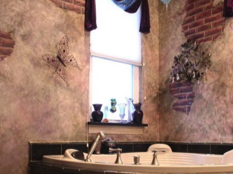 Wallpapers for the bathroom - modern trends
