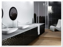 Black and white tiles 3D collection