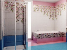 Floral motifs in the tile collections