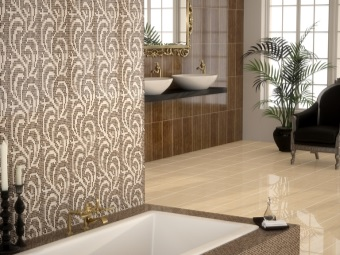 Collection of Spanish tiles - porcelain tiles and mosaic