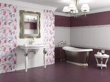 Tile Collection - a combination of floral motifs and different shades