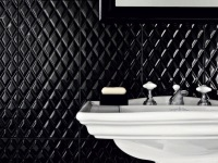 Black tiles in the bathroom