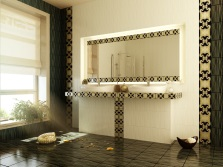 design bathroom black tiles