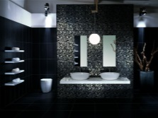 Stylish black tiles