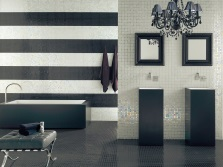 Tile black horizontal stripes
