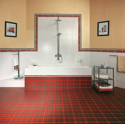 Red tiles in the Scottish style