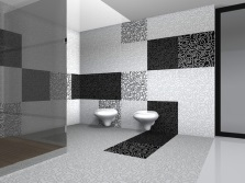 Facing one bathroom tiles