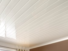 The ceiling in the bathroom pvc panels
